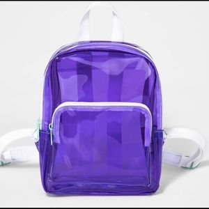 Cat & Jack purple clear backpack